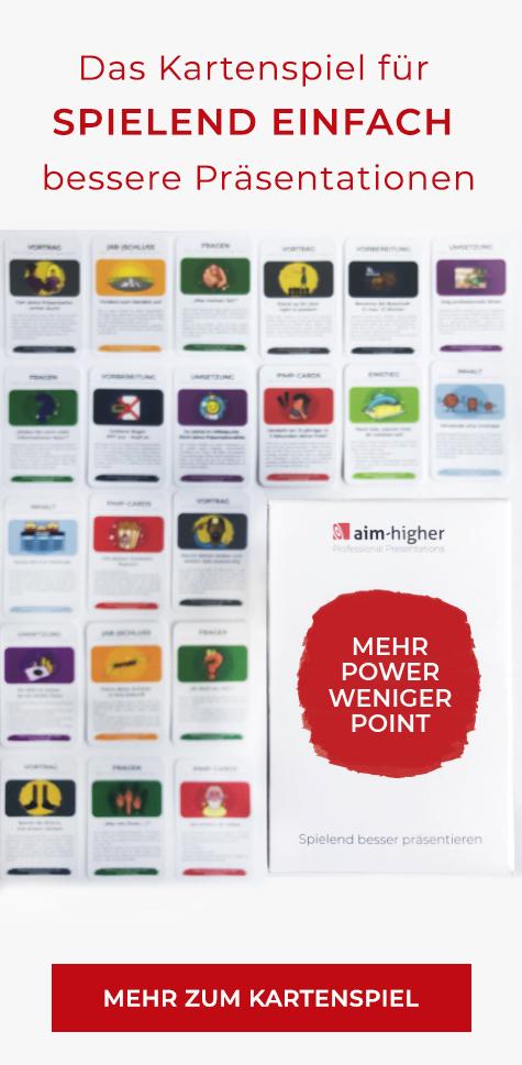 Spielend besser präsentieren: Mehr Power weniger Point. Spielkarten